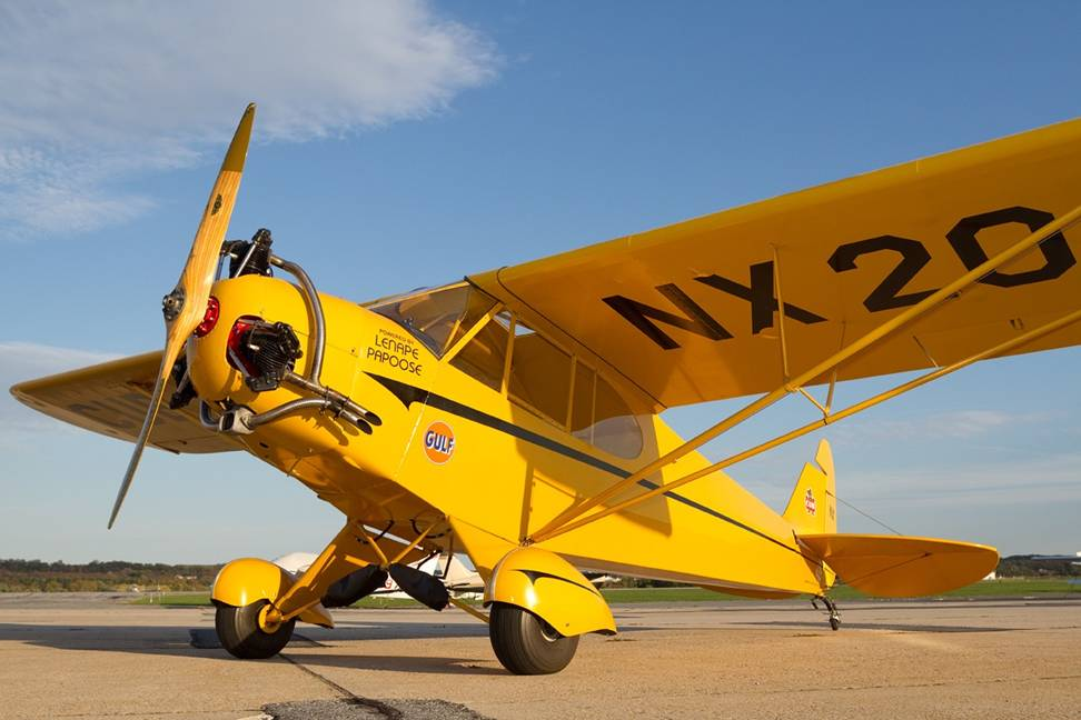 yellow airplane lenape